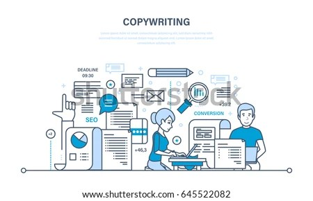 Copywriter Copywriting Creative Writing Articles Information Stock