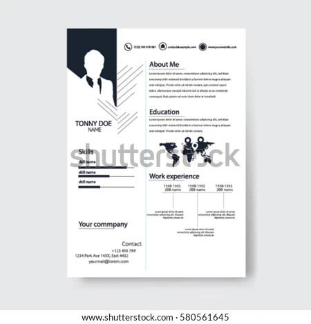 Vector Creative Minimalist Cv Resume Template Stock Photo (Photo - minimalist resume template