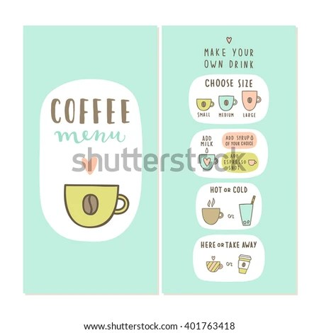 Coffee Menu Template Make Your Own Stock Vector (Royalty Free - make your own template