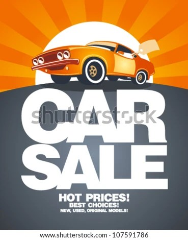 Vector car for free download about (839) Vector car sort by - car sale sign template