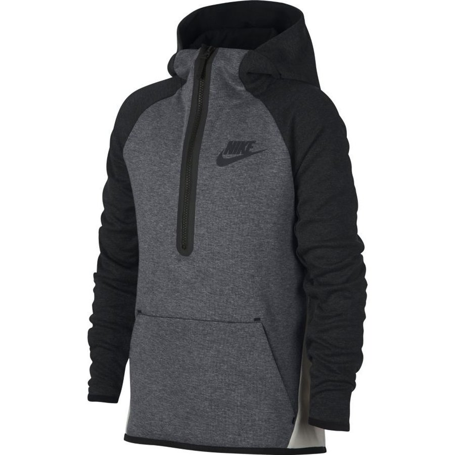 Nike Hoodie Carbon Heather Nike Hoodie Nsw Tech Fleece 1 2 Zip Carbon Heather Black