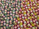 【綿生地 和柄布地】撫松庵生地 菊と桜 花柄 2色 30cm以上10cm単位販売 205B1
