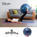 リラクシングワーク ジムボール 低重心 55cm ステイプラス NH3620 ピンク 女性 自宅で座ってできる、ちょうどいい大きさの直径約55cmバ..
