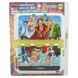 NINTENDO 3DS LL専用 ワンピース 15thANNIVERSARYカスタムハードカバー ブルー・OP-126A