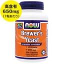 ビール酵母 650mg 200粒[サプリメント/健康サプリ/サプリ/ビール酵母/now/ナウ/栄養補助/栄養補助食品/アメリカ/タブレット]