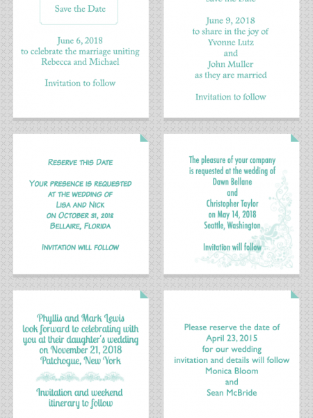 save-the-date Infographics Visually