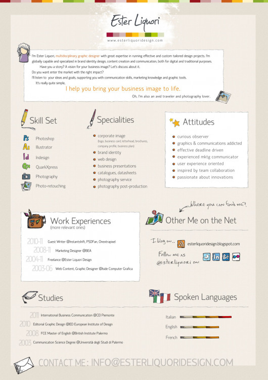 Ester Liquori Design Visual Resume Visually - Visual Designer Resume