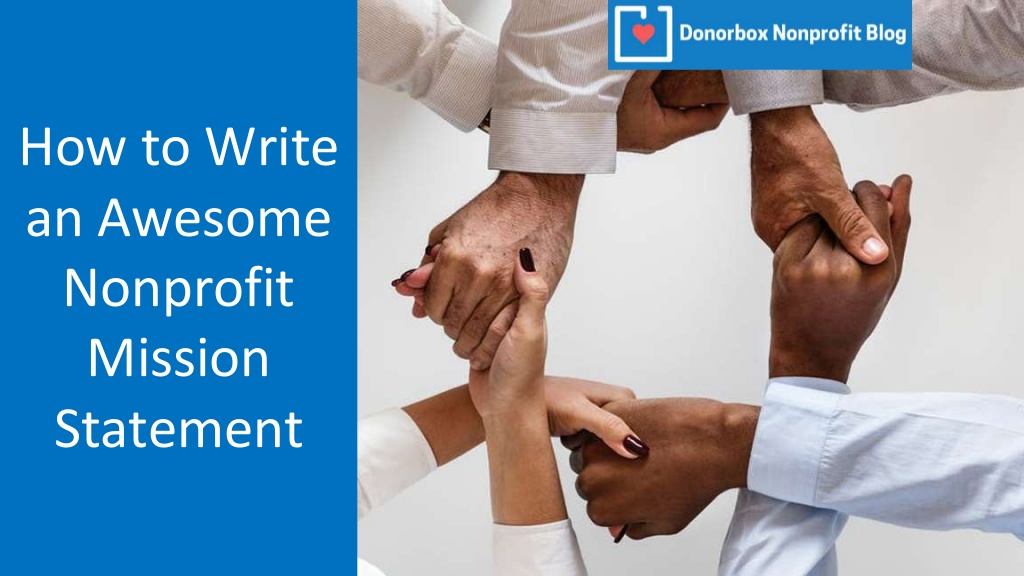 How to Write Nonprofit Mission Statement Visually