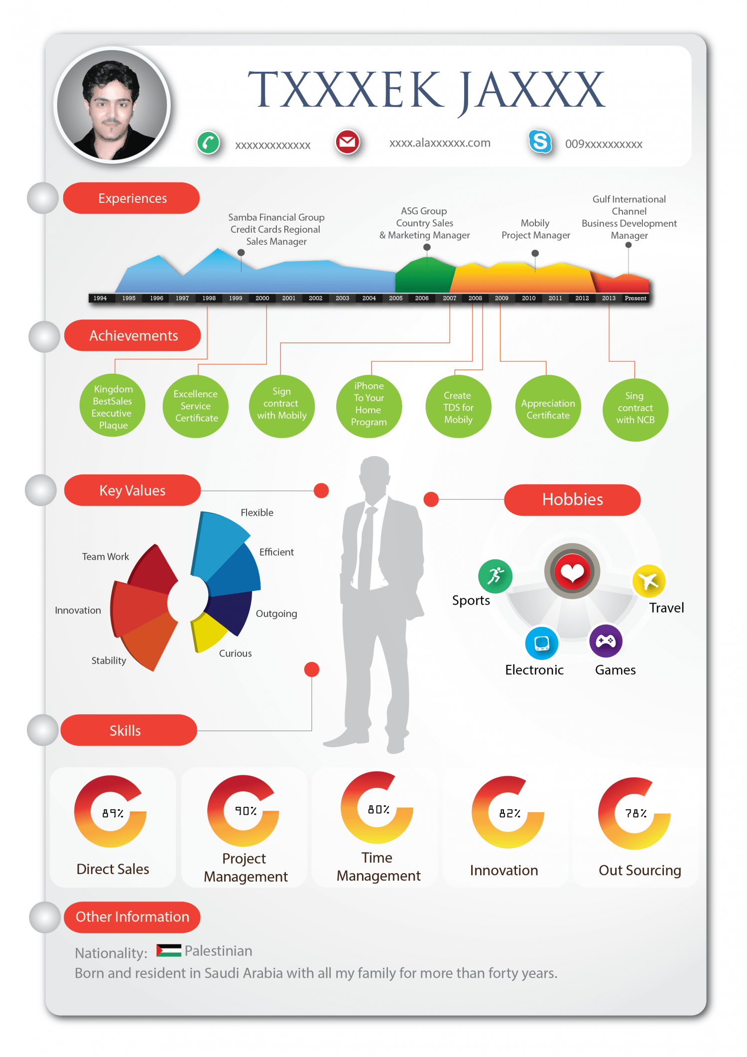 infographic resume for accountant