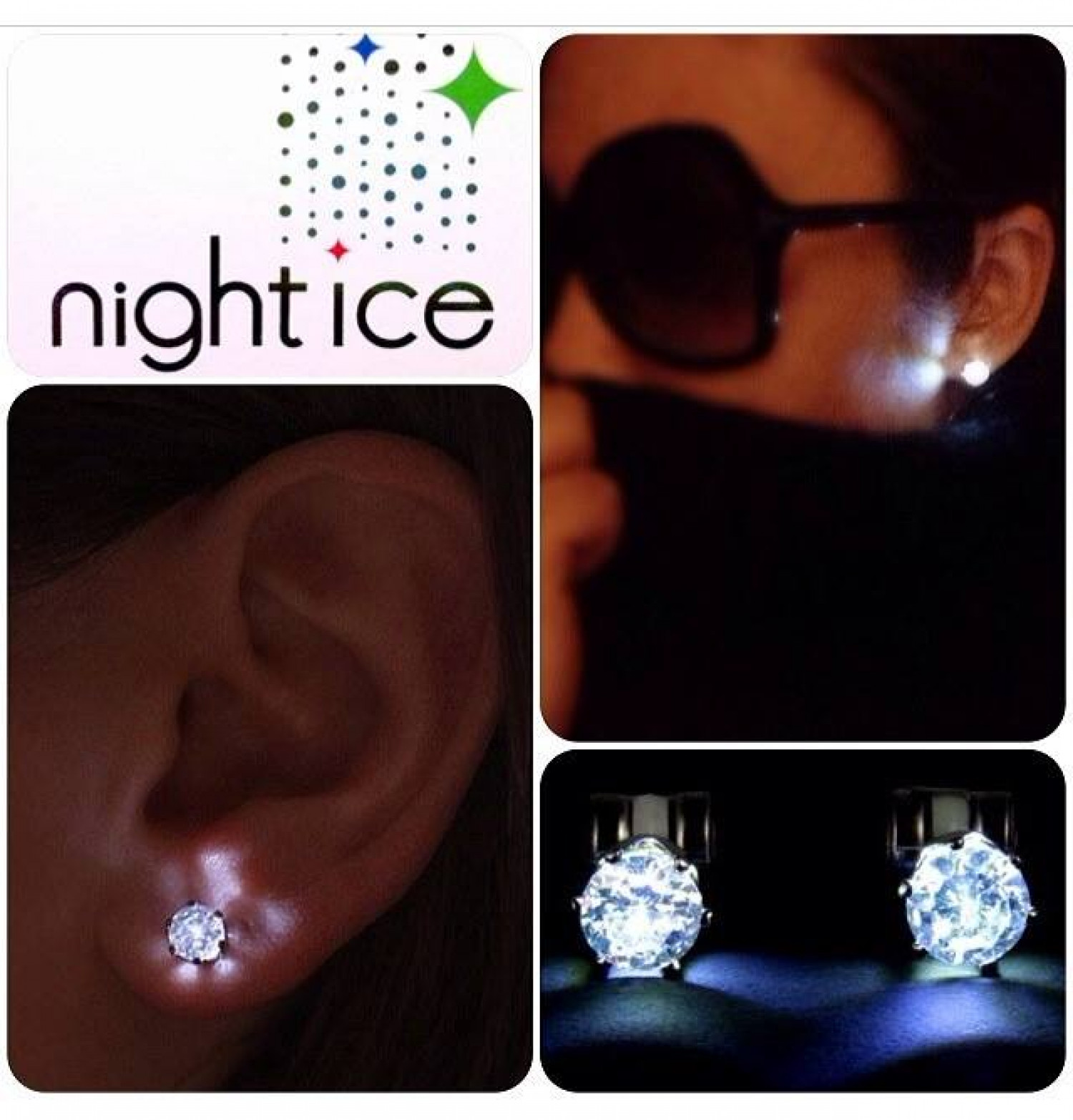 Led Earrings Original Crystal Night Ice Led Earrings 6 Pairs Visual Ly