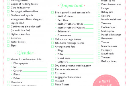 weddings Infographics Visually - wedding list