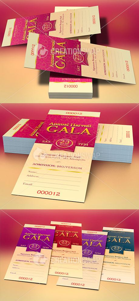 Media - Church Banquet Ticket Template CreationSwap - banquet ticket template