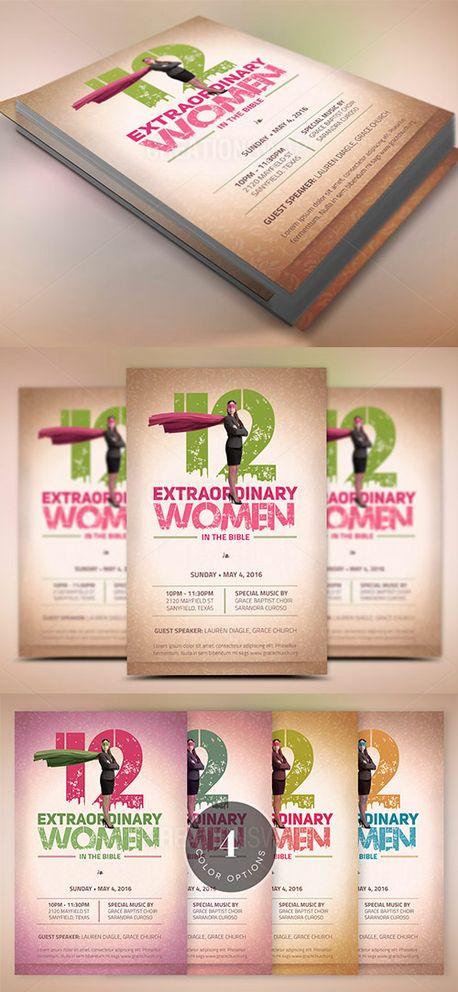 Media - Bible Women Flyer Template CreationSwap