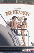 002351113608906 Alessandra Ambrosio cools off on the back of a Yacht in St Barts, Jan 2