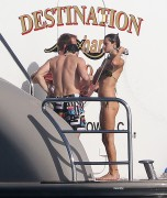 e412e0113608896 Alessandra Ambrosio cools off on the back of a Yacht in St Barts, Jan 2