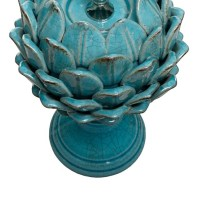 smaller Artur table lamp in a turquoise crackle glaze ...