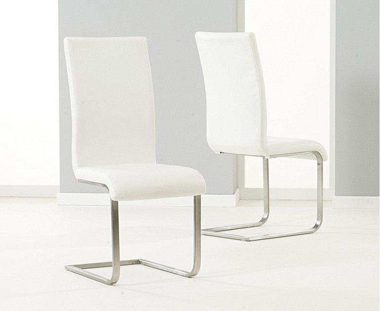 Venus 160cm White High Gloss Dining Table With Malaga Chairs