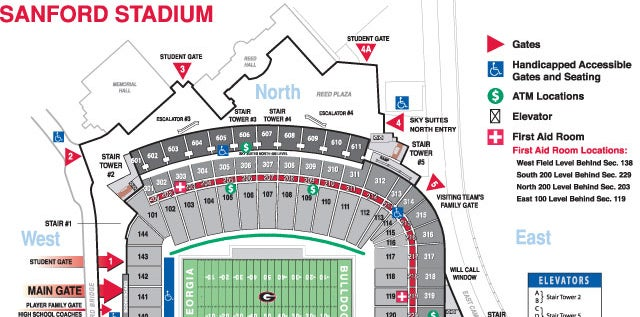 sanford stadium seating chart - Johnnecrewpulse