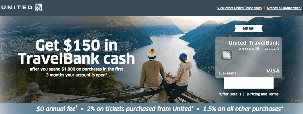 United Credit Card Customer Service Details On The New Chase United Airlines Travelbank Credit Card