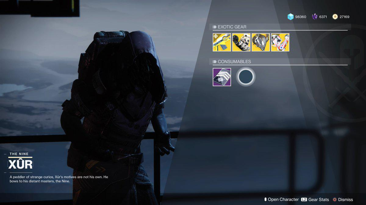 Xur Here S Where Xur Is In Destiny 2 But He S Selling Exotic