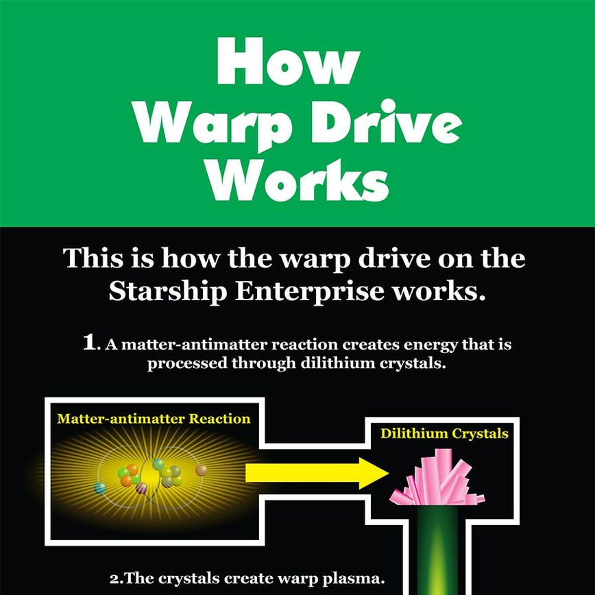 Drive Work Star Trek Science How The Warp Drive Works Infographic