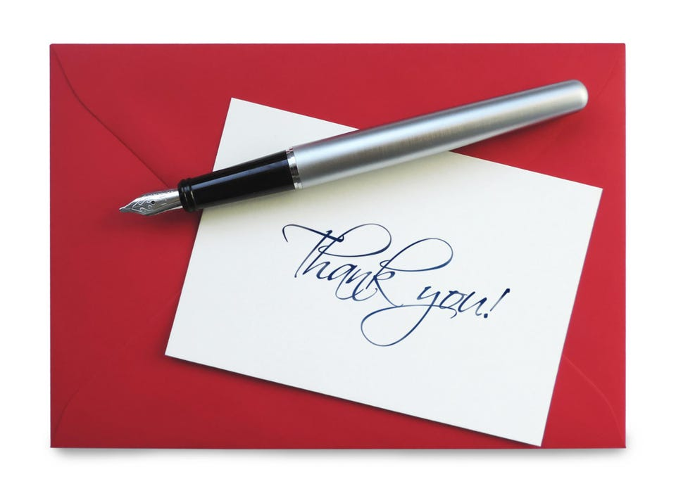 Interview Etiquette Is The Handwritten Thank You Note Outdated?