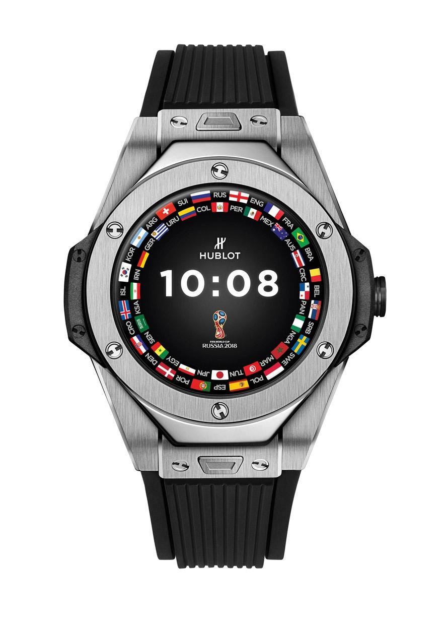 Uhr Hublot Meet The First Hublot Connected Watch Made With Fifa Intel Google