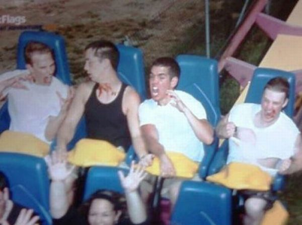People From Roller Coasters ThumbPress 12 Winners and Losers from Roller Coasters (62 Pics)
