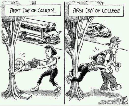 First day of high school vs first day of college\u2026
