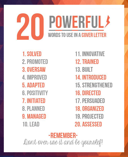 20 Powerful words to use in a resume\u2026