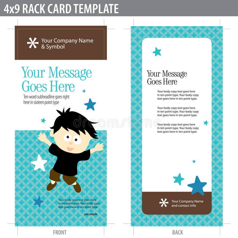 4x9 Rack Card Template stock vector Illustration of business - 8937013