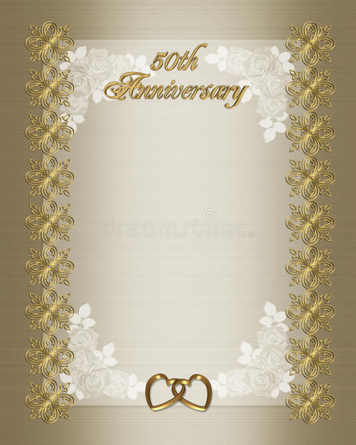 50th Wedding Anniversary Invitation Template Stock Illustration - anniversary invitation template