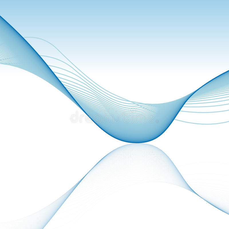 Abstract Background With Blue Wave Stock Vector - Illustration of