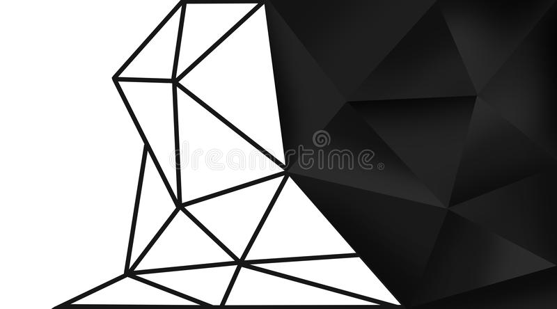 Abstract Background Of Triangles Stock Illustration - Illustration