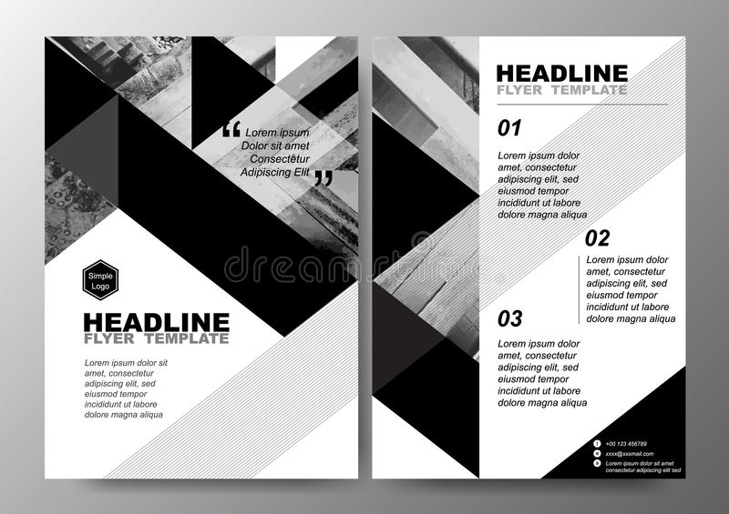 black and white flyers design - Antaexpocoaching - black and white flyer template