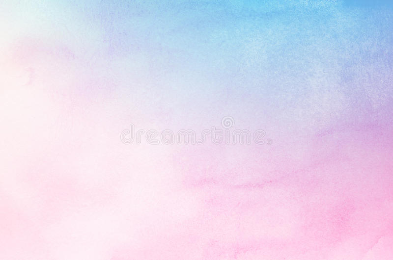 Abstract Blue And Pink Pastel Watercolor Background Stock Image
