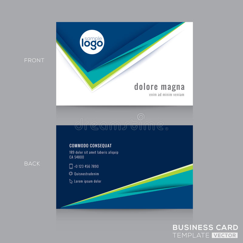 Abstract Business Card Design Template Stock Vector - Illustration - card design template