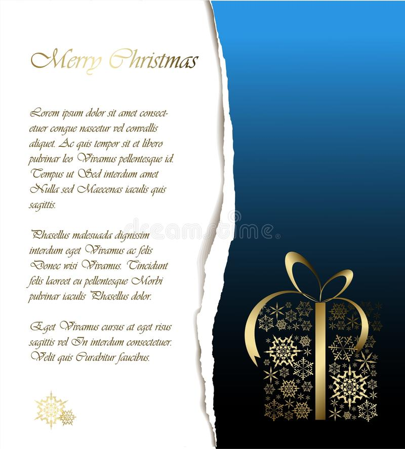 Abstract Christmas Card With Sample Text Stock Illustration