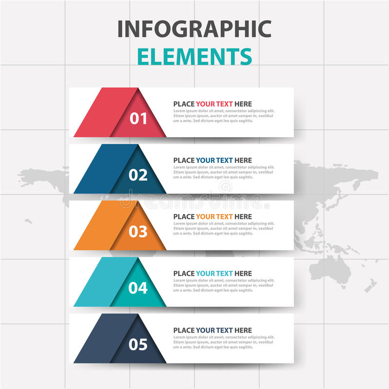 Abstract Colorful Triangle Label Business Timeline Infographics - business timeline template