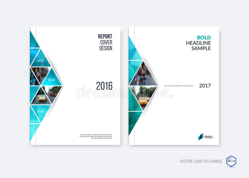 Abstract Cover Design, Business Brochure Template Layout, Report - emerald flyer template
