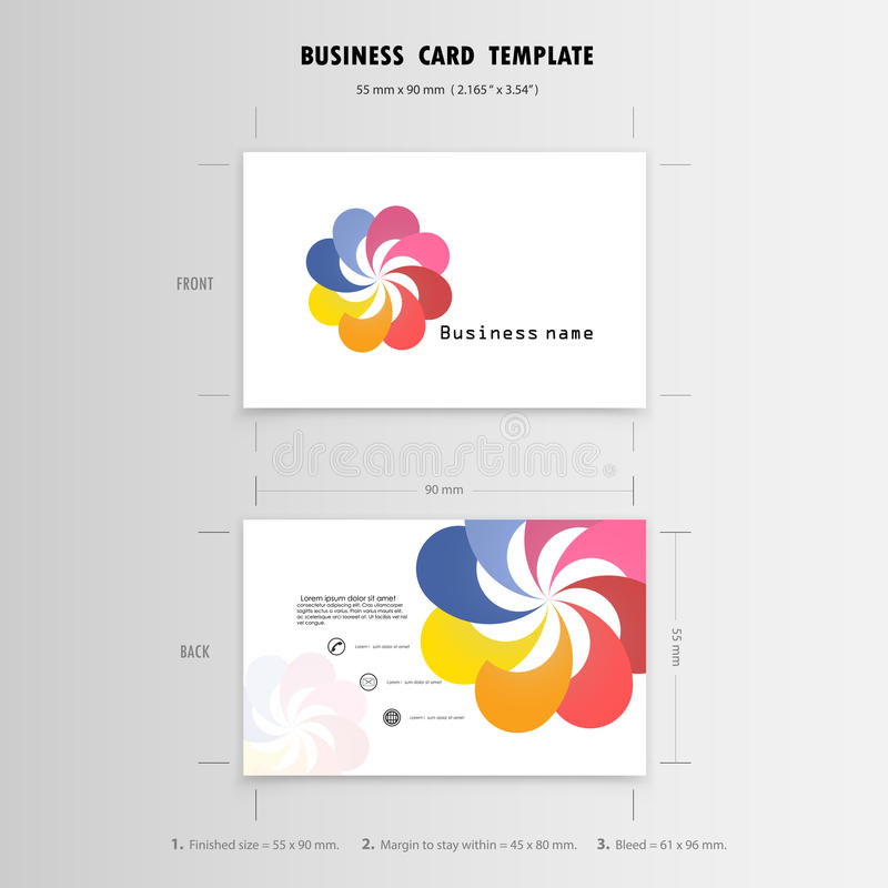Abstract Creative Business Cards Design Template Name Cards Stock - template for name cards