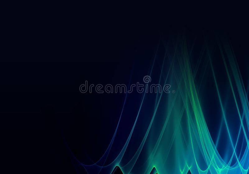 Abstract Cyan Blue And Green Background Stock Illustration