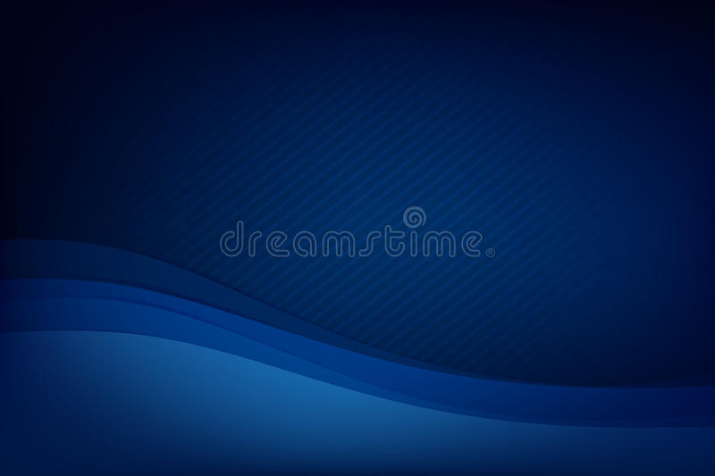 Abstract Deep Blue Background Curve And Overlap Layer With Basic