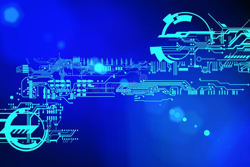 Abstract Futuristic Cyber Technology Background Sci-fi Circuit - circuit design background