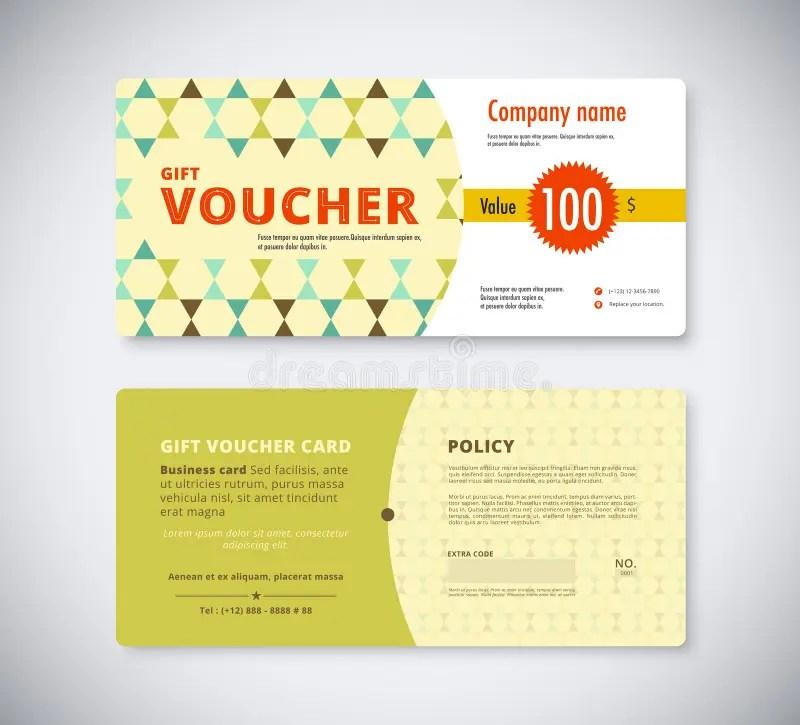 Abstract Gift Voucher Template Card Business Voucher Card Templ