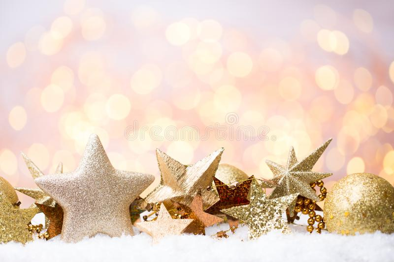 Abstract Gold Bokeh Christmas And New Year Theme Background Stock - christmas theme background