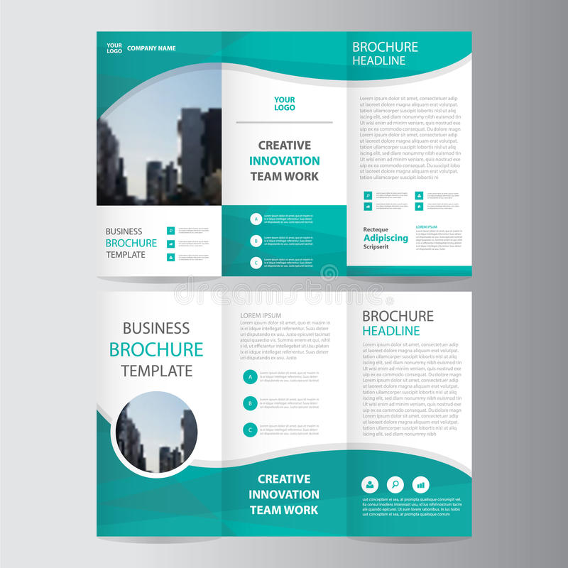 Abstract Green Polygon Trifold Leaflet Brochure Flyer Template