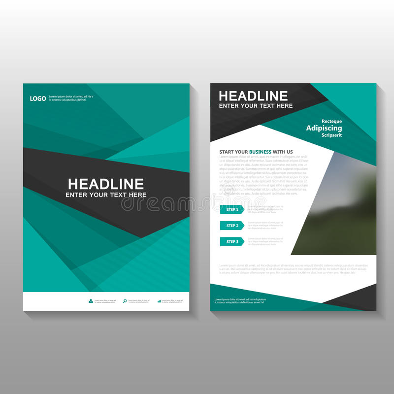 Abstract Green Vector Leaflet Brochure Flyer Business Proposal - download business proposal template