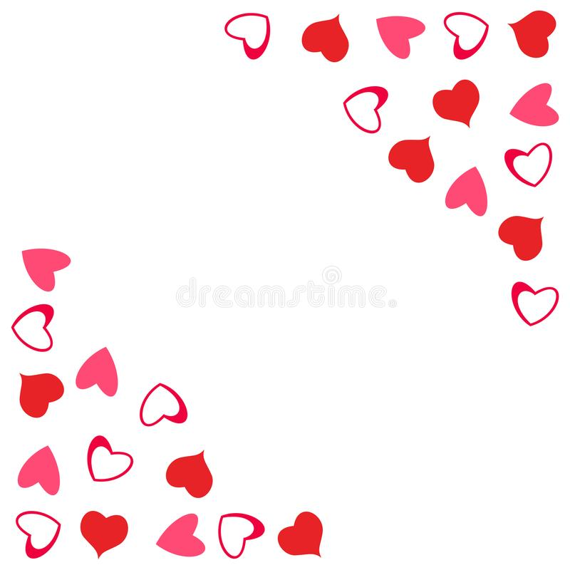 Abstract Love Design Of Hearts For Greeting Cards, Invitations