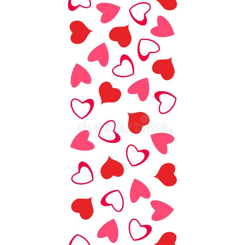 Abstract Love Pattern Of Hearts For Greeting Cards, Invitations